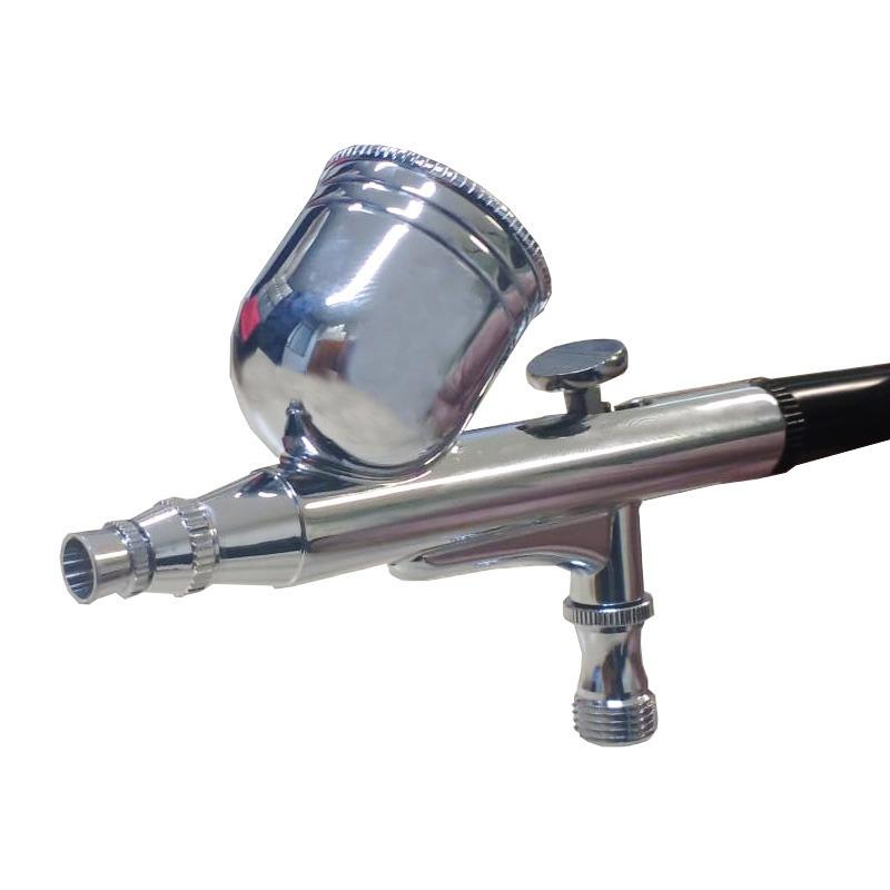 Kit mini compressor bivolt + aerografo de 2 estagios com maleta de aluminio
