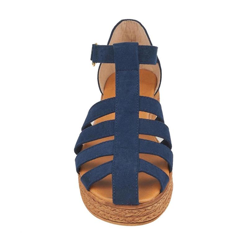 Alpargata azul tiras 017510