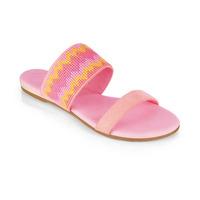 Sandalia piso rosa con amarillo 012979