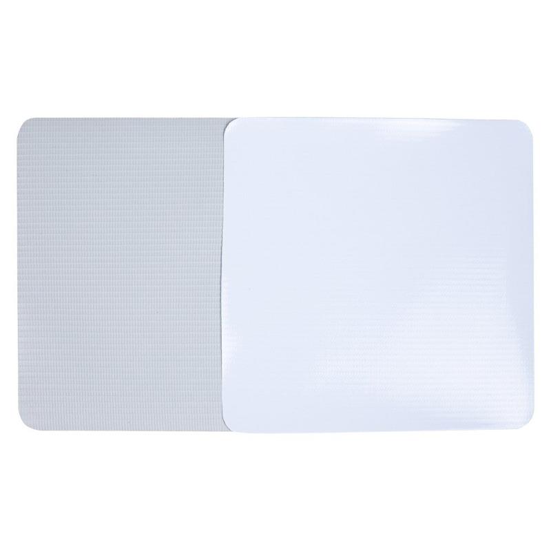 Lona pvc para banner Unibanner branca brilho verso cinza (280 g) larg. 2,03 m
