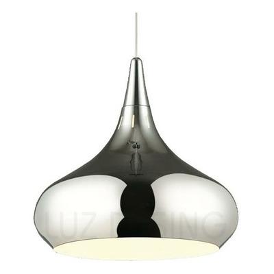 Colgante 1 Luz Cromo Berma M 36cm Apto Led Deco Moderno