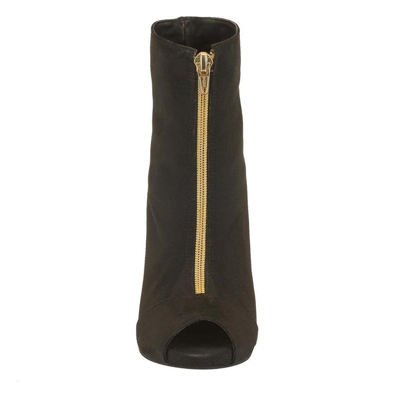 Bota tacón negra con cierre 016426