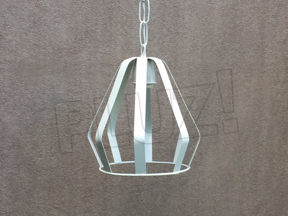 Lámpara Colgante Diamante Chapa Chica - Jaula Hier...