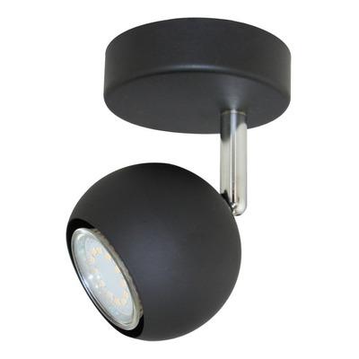 Aplique Venus 1 Luz Negro Moderno Deco Apto Led Movil Gu10