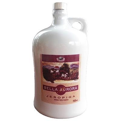Jeropiga Garrafa de Cerâmica Branca 700ml - Bella Aurora