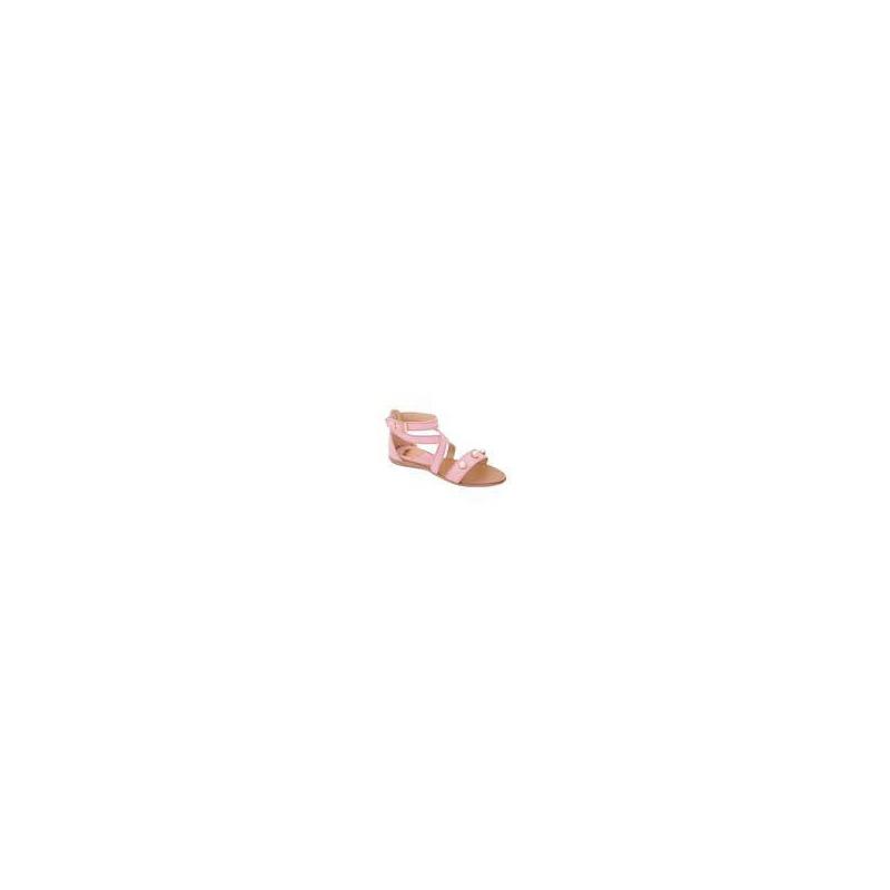 Sandalia rosa con pedrería 018235