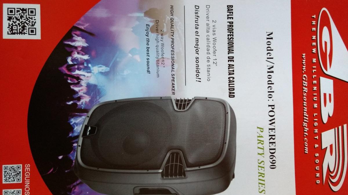 "Bafle GBR 2 vias 12"" MP3 BAT party PROMUSIC DJ"