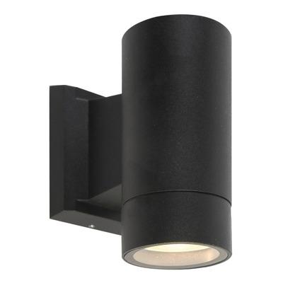 Unidireccional Aluminio Negro Cilindro Gu10 K1401 Mks