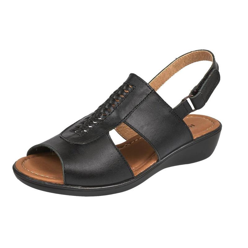 Sandalia plataforma negra   016682