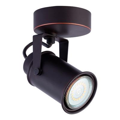 Aplique 1 Luz Negro Vintage Apto Led Gu10 U1101 Mks