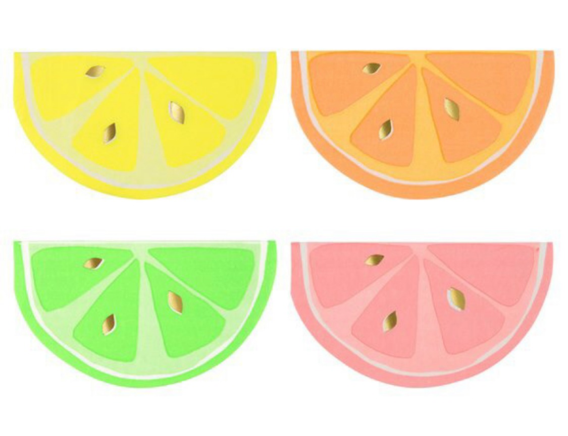 Servilletas citrus
