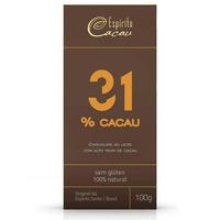 Chocolate ao Leite 31% Cacau - 100g - Espirito Cacau