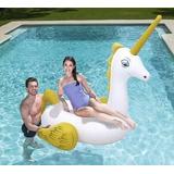 Colchoneta Inflable Unicornio Bestway c/apoya vasos