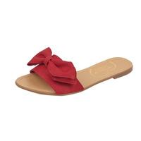 Sandalia piso rojo con moño 017460