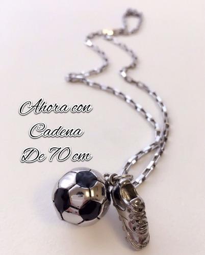 e45f1f383a0a ... comprar Colgante Pelota Futbol + Botín Con Cadena Acero Quirúrgico ...