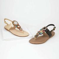 Combo sandalia multicolor con pedrería 016555