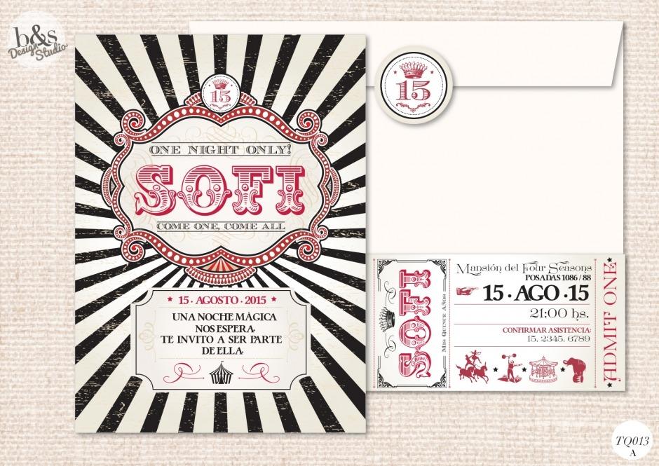 Invitación 15 años TQ013