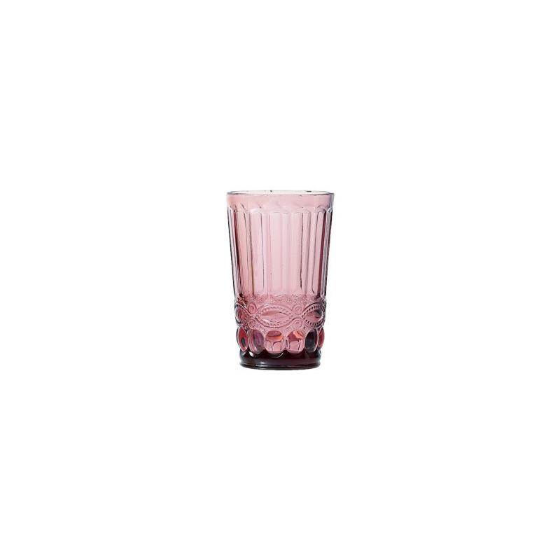 Jogo 06 Copos Libélula de Vidro Lilás - Lyor 4106517