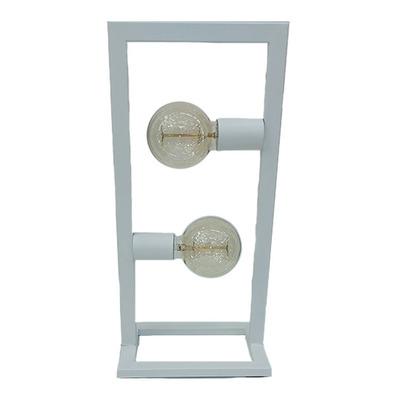 Lampara De Mesa Rectangular Industrial Minimalista 2 Luces