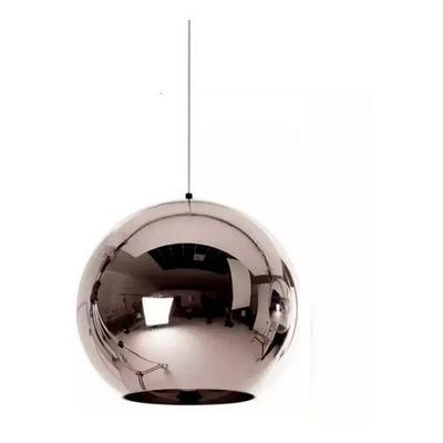 Lampara Colgante Vidrio Cromo 15cm Moderna Tom  Apto Led E27