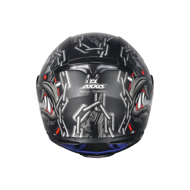 Capacete Axxis Eagle Bull Cyber Gloss Preto
