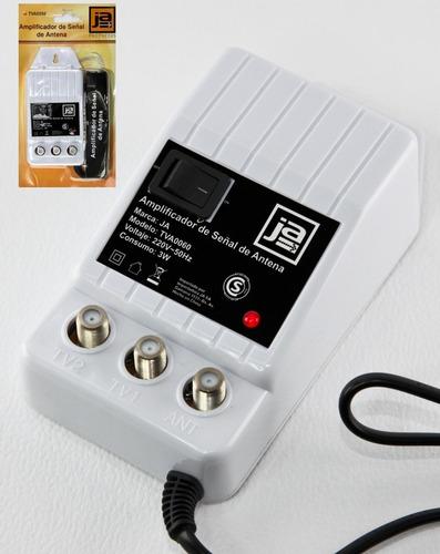 Amplificador de se al antena cable tv 2 salidas 28 db a 220v web electro - Amplificador de antena interior ...