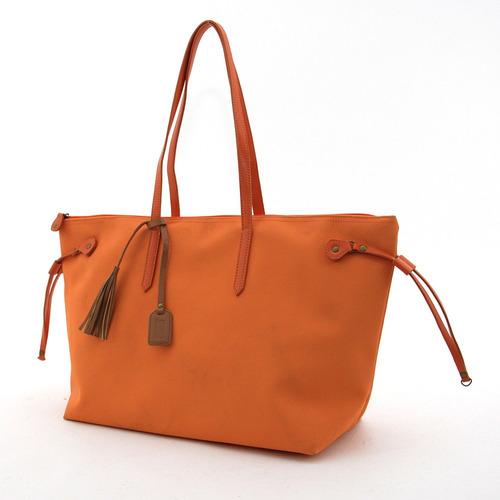 Bolsa Shopping C/tiras Laterales Naranja Brandy