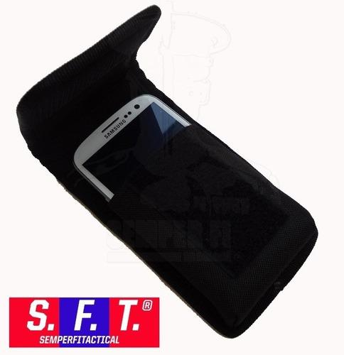 Bolso Porta Celular Grande-smartphone Molle Negro - Sft®