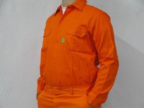 Camisa De Trabajo Naranja - Fabrica- Enviamos Al Interior