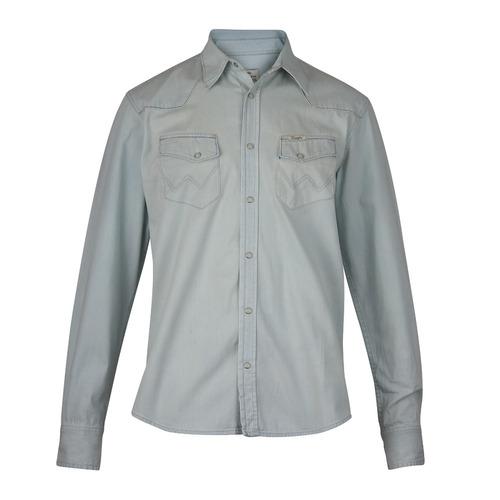 Camisa Wrangler Original Hombre Azul (05413011189201)