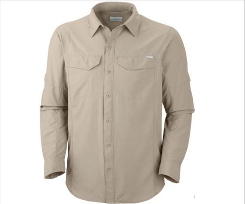 Camisas Columbia Silver Ridge Omni Shade Uv Protect Beige
