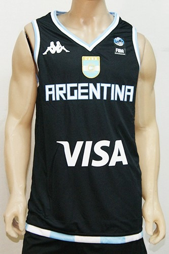 d87457340b48c Camiseta De Seleccion De Basket De Argentina Suplente Kappa