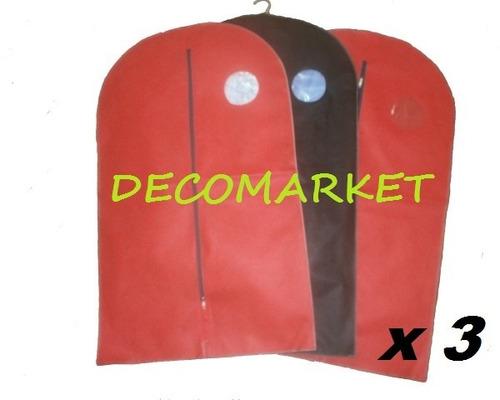 Funda De Traje Vestido Organizador Camisa Ropa Etc,x3 Reg@lo