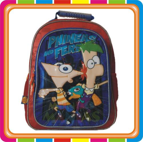 Mochila Espalda Perry Phineas Y Ferb - Disney - Mundo Manias