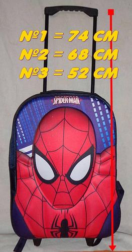 Mochila Spider Man Niño Hasta 1°grado Con Carrito¡¡envio S/c