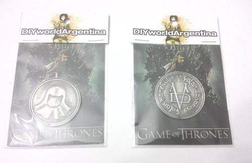 Moneda Game Of Thrones Juego De Tronos Valar Morghulis