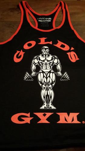 Musculosa Espalda Abierta Golds Gym Calidad Unica Anti Olor