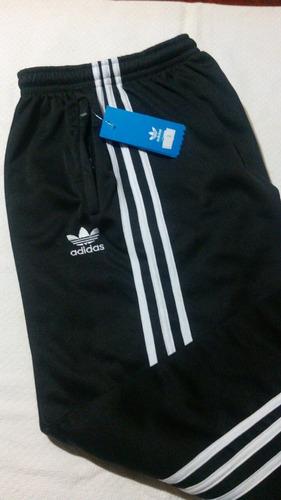 Pantalon Adidas Retro - Solo Negro Con Blanco
