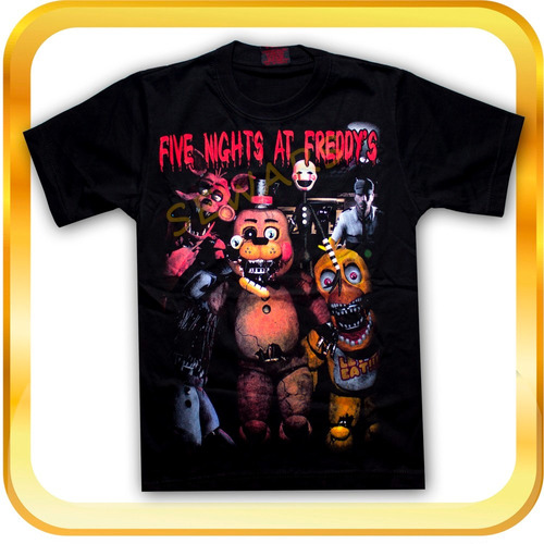 Remera Five Nights At Freddys Estampado Frente Y Espalda
