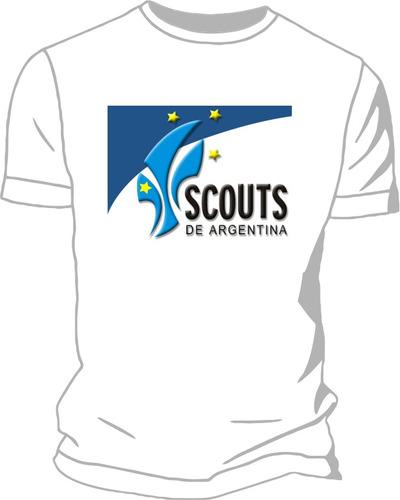 Remera Modal Estampada Scout Baden Powell Flor De Liz Nudos