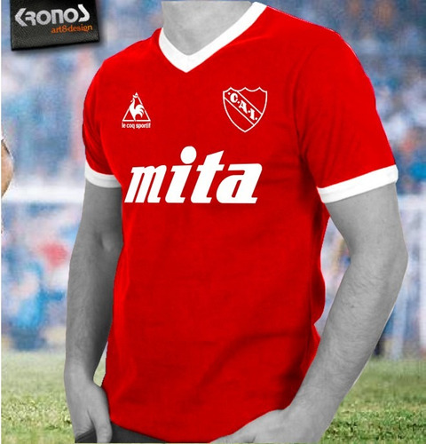 Remera Retro Independiente Topper Mita Lecop Xs Al Xxxl