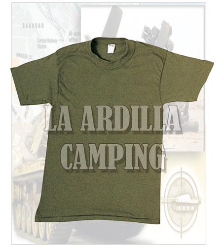 Remera Verde Oliva Y Negra Para Ejercito - Gendarmeria Ffaa