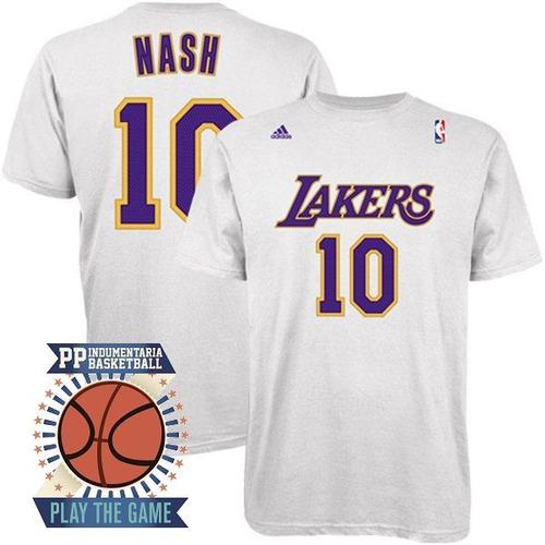 Remeras Estampadas Basket Nba Angeles Lakers Steve Nash