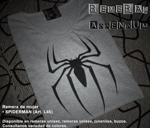 Addenda Capital: Remeras Mujer Spiderman Hombre Araña Superheroes Promo