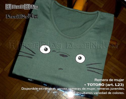 Remeras Mujer Totoro Anime Comics 100% Algodón Promo!