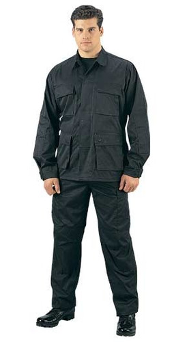 Uniforme Tactico Ripstop Negro Policia - Geof -ge1 Paintball