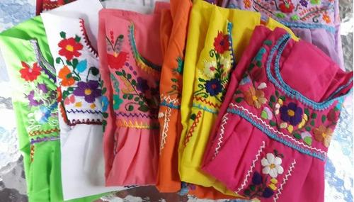 Vestidos Mexicanos Bordados A Mano Para Niñas