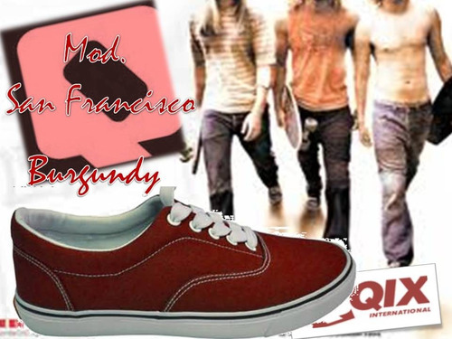 Zapatillas De Skate Qix Mod. San Francisco Burgundy