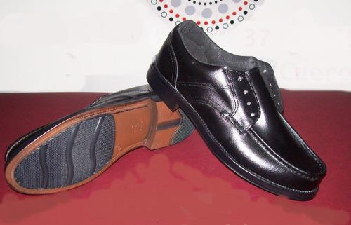 Zapato Acordonado/ Mocasin De Cuero Cosido