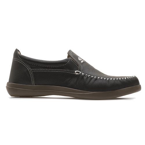 Zapato Náutico Cuero Gris